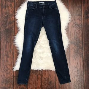 Madewell Mid Rise Dark Wash Skinny Jeans
